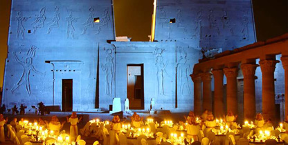 "The spectacular ""Sound & Light"" show at the Philae temple"
