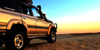 Sunset safari by 4x4 vehicle