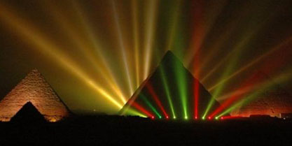 """Sound & Light"" show at the pyramids"